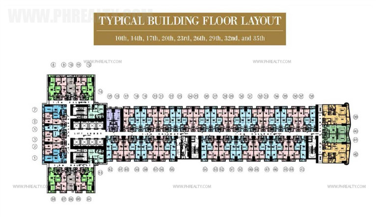 coastresidencessmdc_10th, 14th, 17th, 20th, 23rd, 26th, 29th, 32nd and 35th Floor Plan