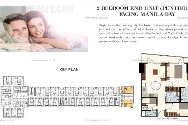 coastresidencessmdc_2 Bedroom End Unit (Penthouse)