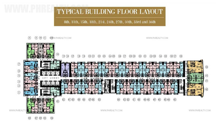 coastresidencessmdc_8th, 11th, 15th, 18th, 21st, 24th, 27th, 30th, 33rd and 36th Floor Plan