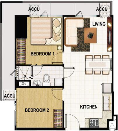 Princeton residences smdc properties for Studio type condo floor plan